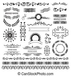 Set of vector graphic elements