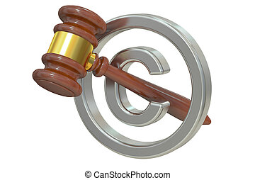 Copyright laws and intellectual property legal protection,...