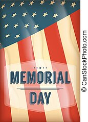 Happy Memorial Day background template.Happy Memorial Day...