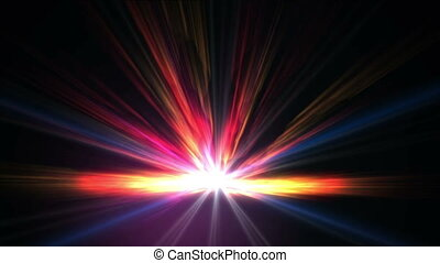 fire ray abstract star