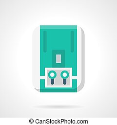Gas water heater flat color design vector icon - Gas...