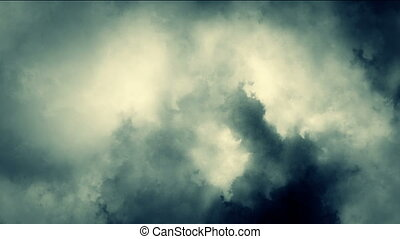 fog blue abstract