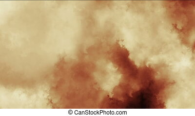 fog fire abstract