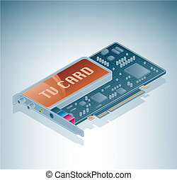 Internal TV tuner is a part of the Isometric 3D Computer...