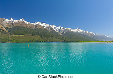 Lake Wakatipu - Beautiful lake Wakatipu with mighty...