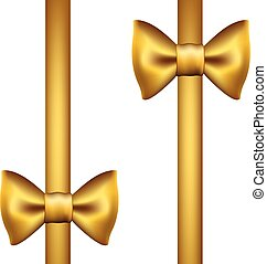 Silk gold ribbon with a bow