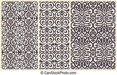 Baroque Pattern set with Floral Details