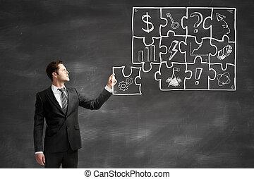 businessman fold puzzle - businessman fold business puzzle,...