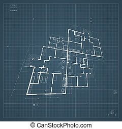 Architectural background. Vector. - Abstract architectural...