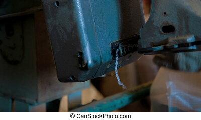 Corn Grain bag stitch with thread in factory - Corn Grain...