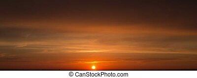 Amazing Sunset. Beautiful Red Sunset