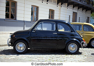 fiat 500 on a parking place