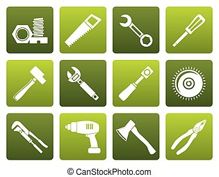 Flat different kind of tools icons