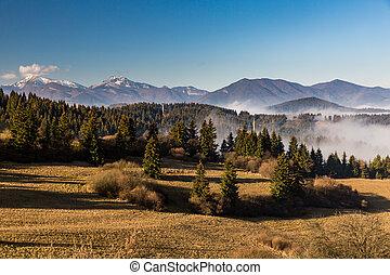 Orava nature overlook from Valaska Dubova in Slovakia