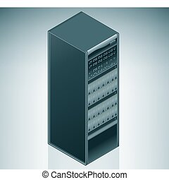 Internet Server / Data Center is a part of the Isometric 3D...