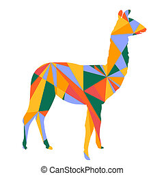 llama abstract shapes illustration - llama abstract shapes...