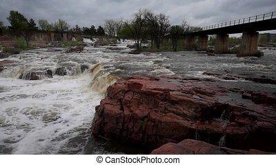 Sioux Falls Steady - Falls Park - Sioux Falls South Dakota...