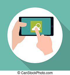 Smartphone design. App icon. White background , vector -...