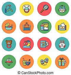 icon set  baby