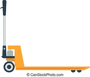 Pallet truck vector illustration.