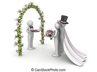 Lifestyle collection - Wedding ceremony - 3d characters...