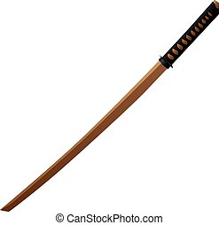 Bokken - wooden Japanese sword - Wooden Japanese sword...