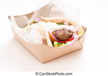 koobideh ground lamb wrap - delicious flatbread wrap...