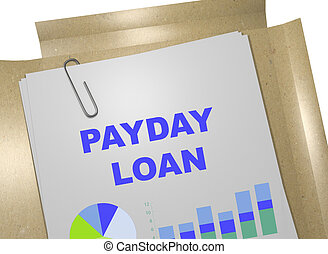 Payday Loan business concept - 3D illustration of PAYDAY...