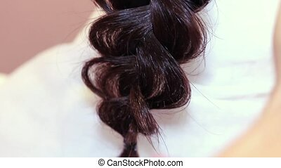 Beauty saloon Makes The Pigtail - Makes The Pigtail in...