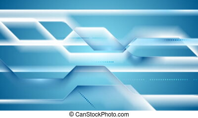 Abstract geometric tech striped video animation - Abstract...