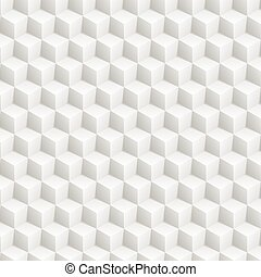 Grey abstract 3d cubes pattern
