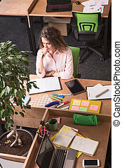 Business woman working in office - Portrait of beautiful...