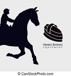 Horse ridding design equipment icon isolated illustration -...