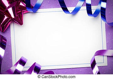 Party invite - Blank party invite against a purple...