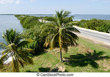 Road to the island of Cayo Coco across the atlantic, cuba