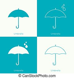 Umbrella sign icon Rain protection symbol Concept of...