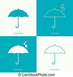 Umbrella sign icon. Rain protection symbol. Concept of...