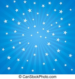 white stars and stripes - Blue background with white stars...