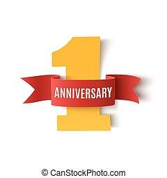 One year anniversary background. - One year anniversary...