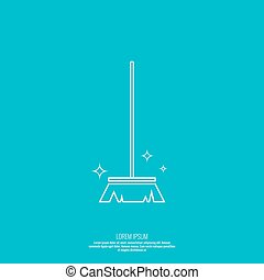 Vector icon hand brooms - Vector icon brush for cleaning...