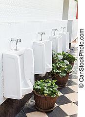 Urinals in public toilet