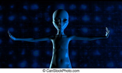 3D Animation of an Alien