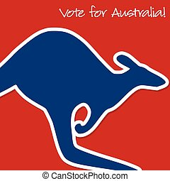 Australian Election card in vector format