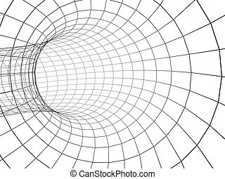 Abstract 3d tunnel from a grid