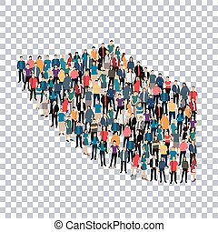 abstract Transparency symbol people - abstract icon,...