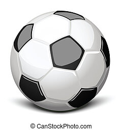 Soccer ball - Shiny soccer ball over white