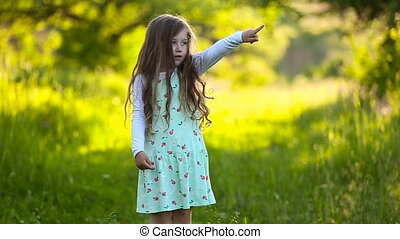little girl on the nature - little girl on the fact that...