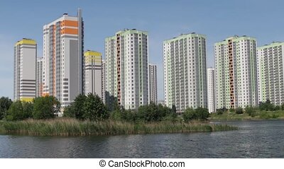 modern apartment buildings over the - St.Petersburg Russia,...