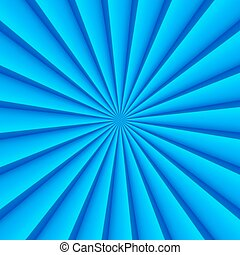 Blue abstract rays circle vector background