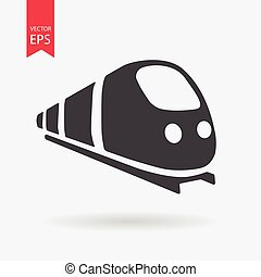 Train Icon Vector. Flat design. Train sign isolated on white background.